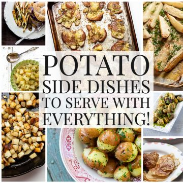 Photo collage of potato recipes