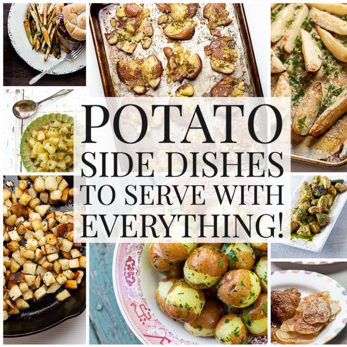 Photo collage of potato recipes