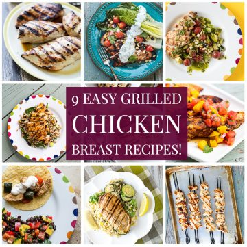 Collage of chicken breast recipes with text overlay.