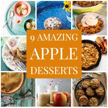 Collage of apple desserts.