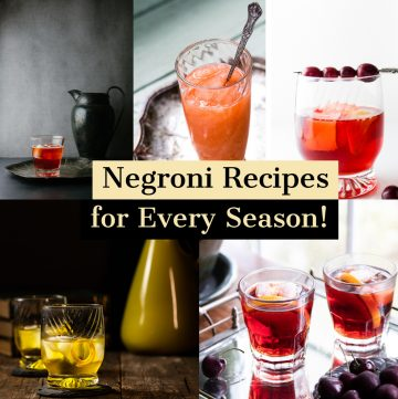 Collage of negroni recipes.
