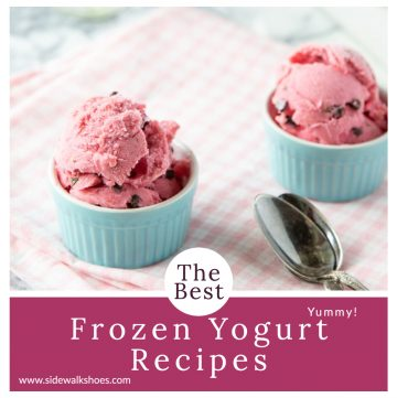 Two bowls of frozen yogurt with text overlay.